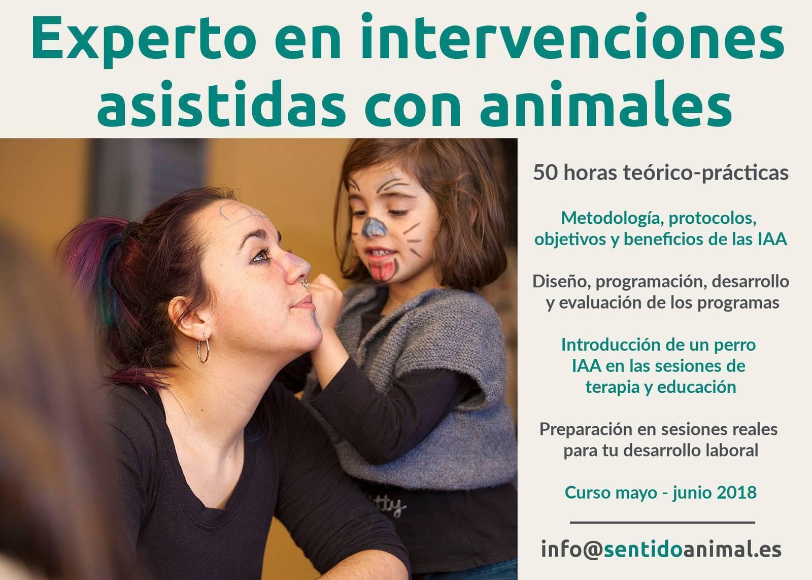 Curso de experto en intervenciones asistidas con animales