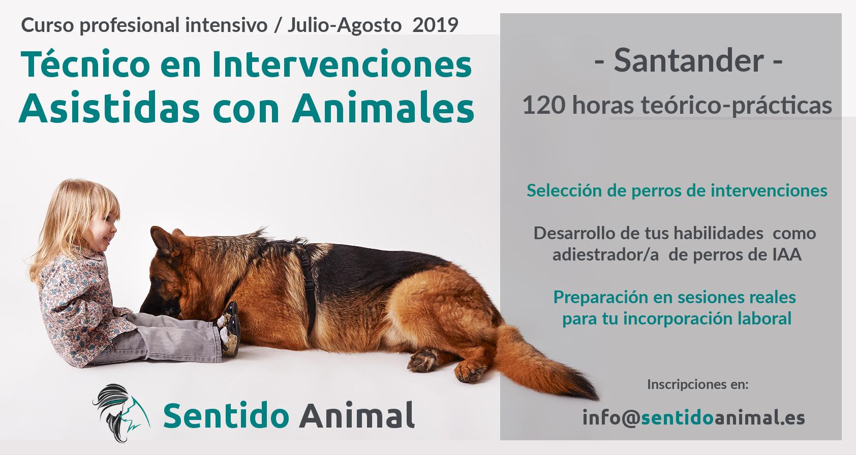 Curso intensivo de técnico en intervenciones asistidas con animales – Santander 2019