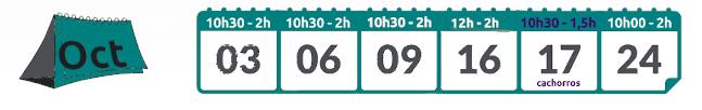 Calendario socializaciones octubre 2021